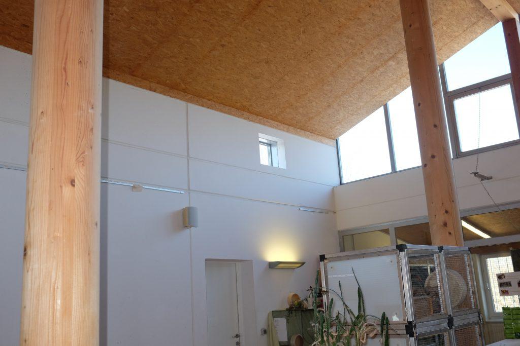Eine moderne Konstruktion, die sich durch Licht und Freundlichkeit auszeichnet, sowie Funktionalität und architektonischen Anspruch verbindet.